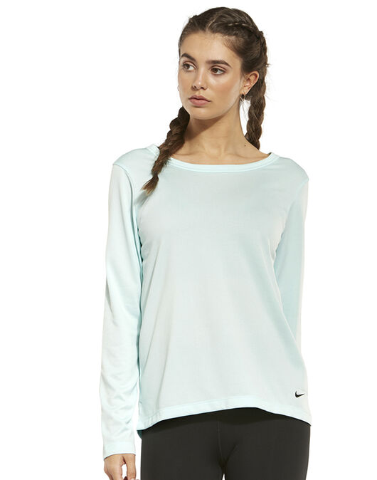 316f1fa57a697 Women's Blue Nike Long Sleeve Gym Top | Life Style Sports