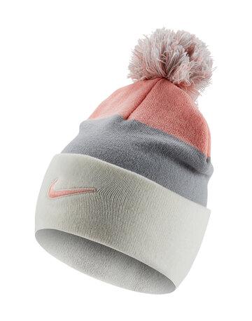 Kids Swoosh Stripe Bobble Hat