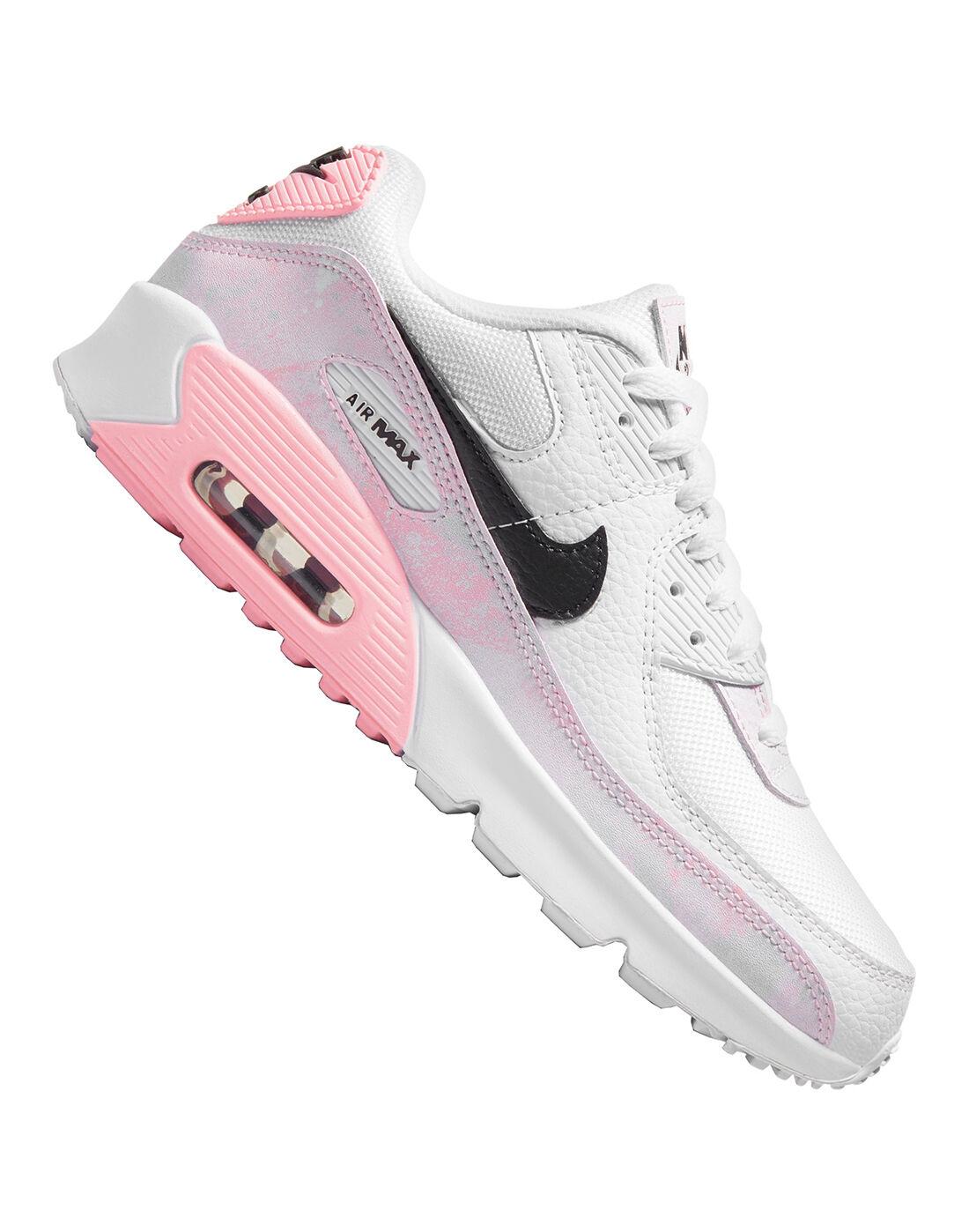 Nike Older Girls Air Max 90 - White   Life Style Fitforhealth ...
