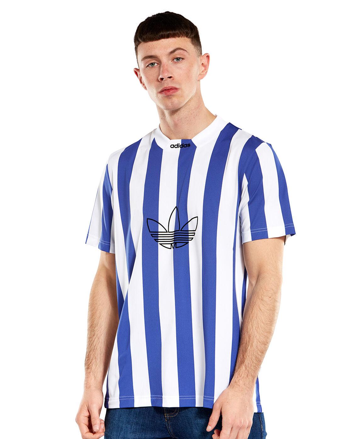 Men's Blue & White Stripe adidas Originals Jersey | Life Style Sports