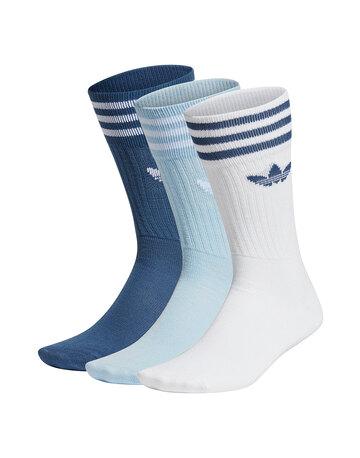 Adult Solid Crew 3 Pack Socks