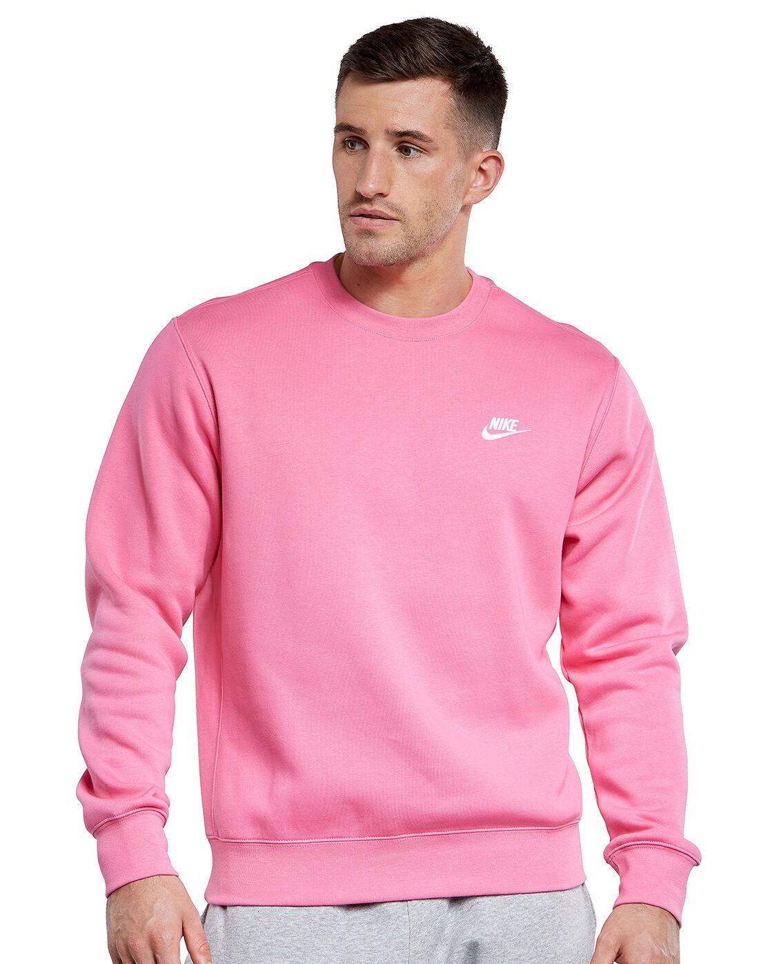 Nike Mens Club Crew Neck Sweatshirt - Pink | Life Style ...