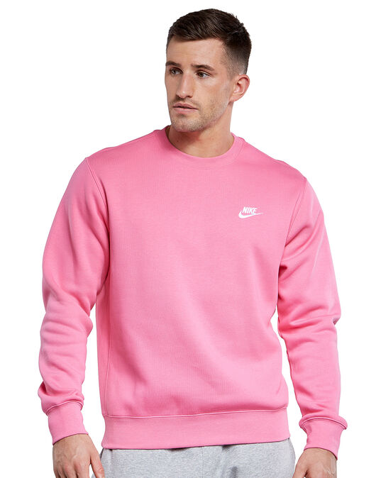 frente vesícula biliar Reprimir  Nike Mens Club Crew Neck Sweatshirt - Pink | Life Style Sports IE