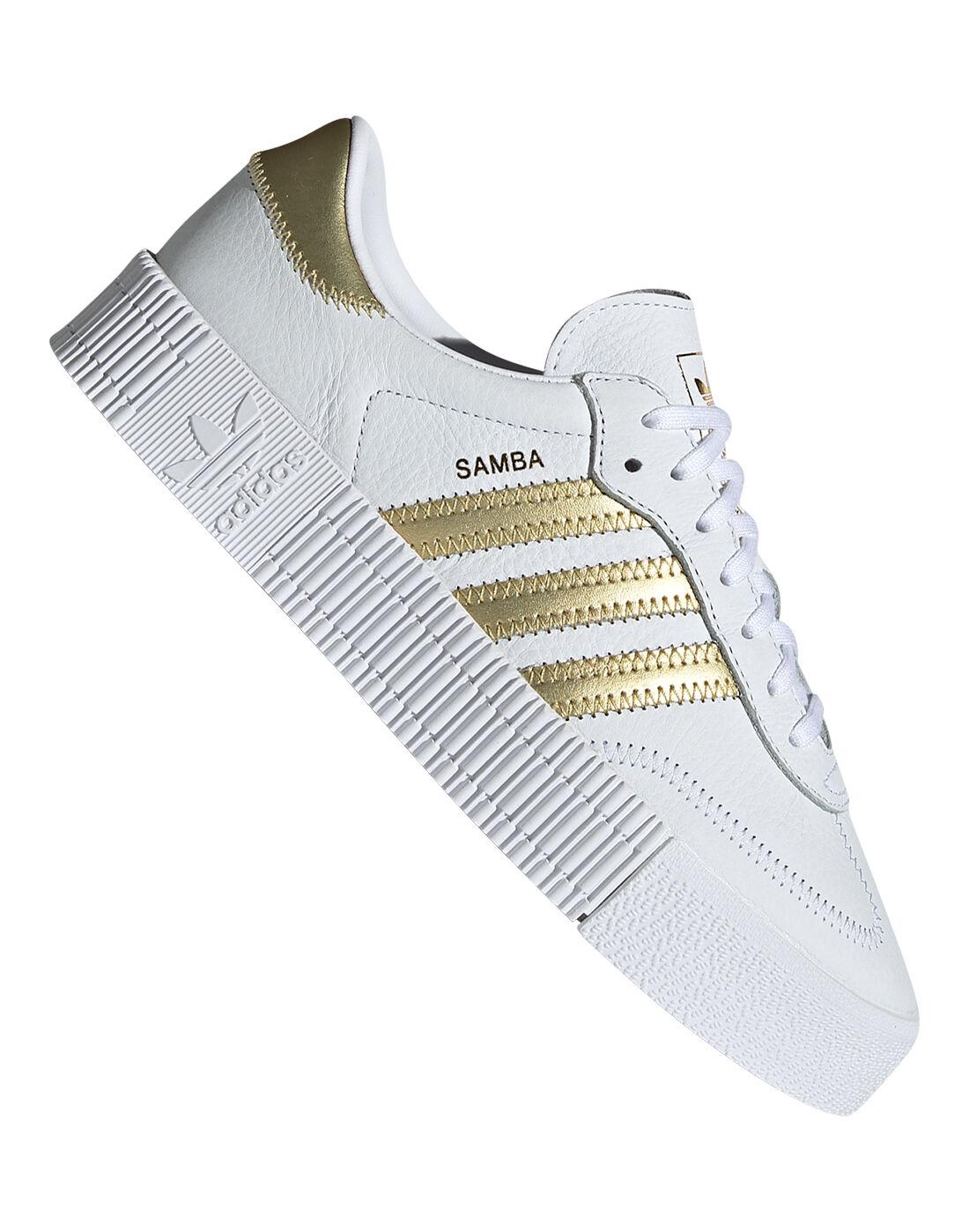 Women's White \u0026 Gold adidas Originals