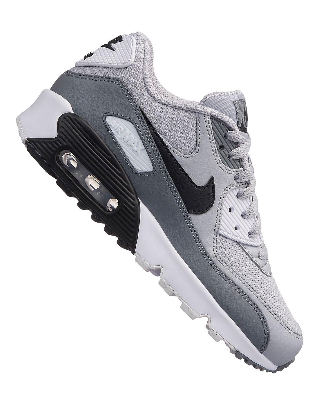 Kids Nike Air Max 90 Mesh   Grey   Life