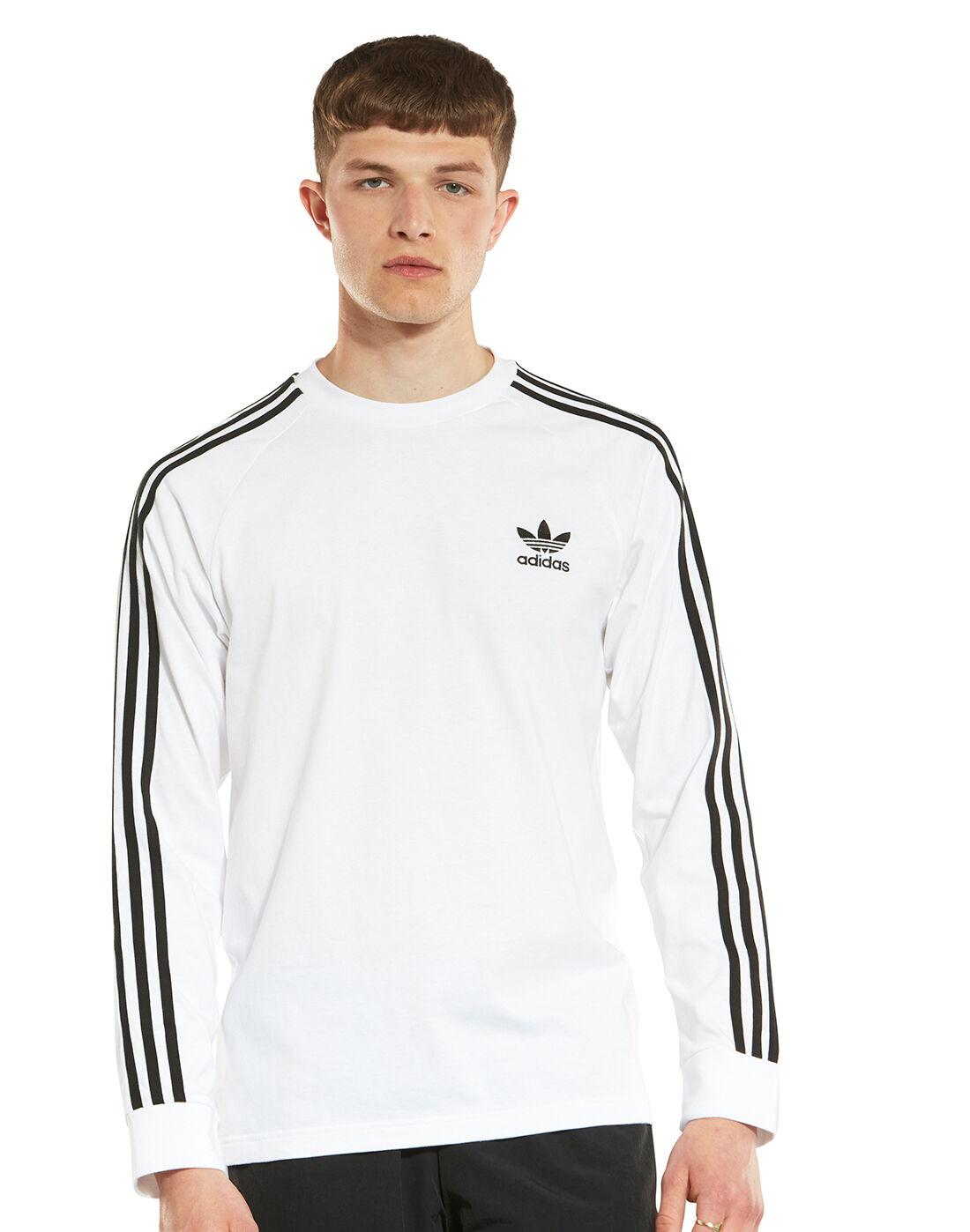 adidas Originals 3 Stripes T Shirt für Damen Weiß