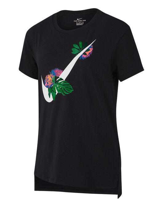 reputable site 336bf 8af52 Older Girls Swoosh Floral T-Shirt