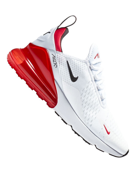buy popular c5026 ae7a0 Men's White & Red Nike Air Max 270 | Life Style Sports