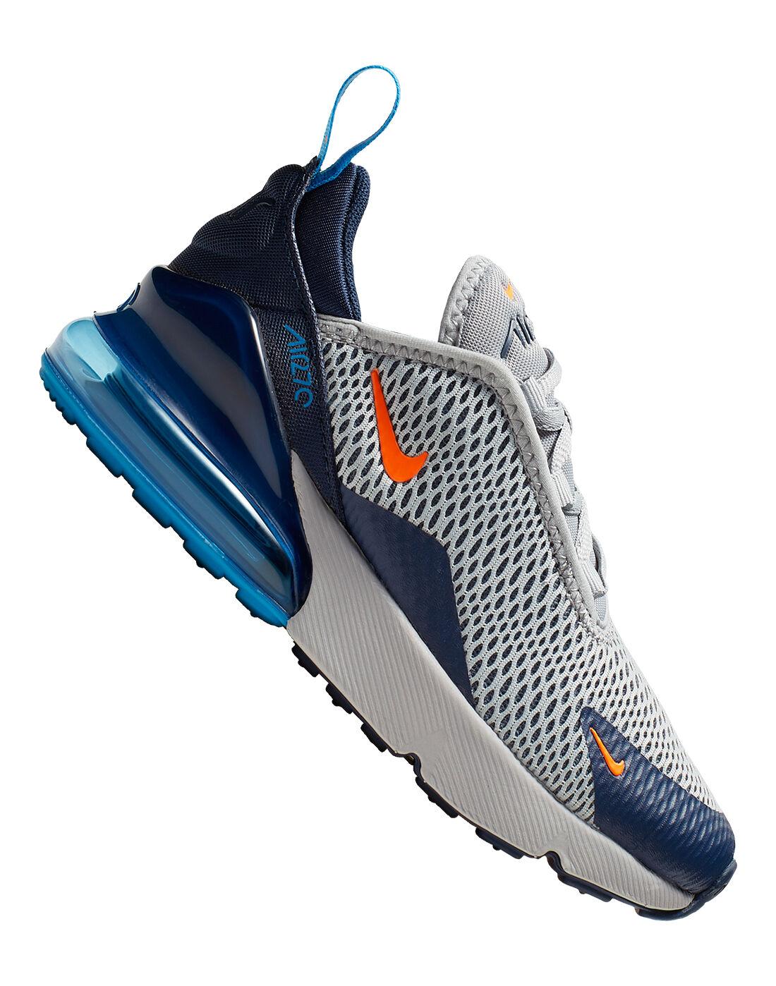 Grey \u0026 Blue Nike Air Max 270