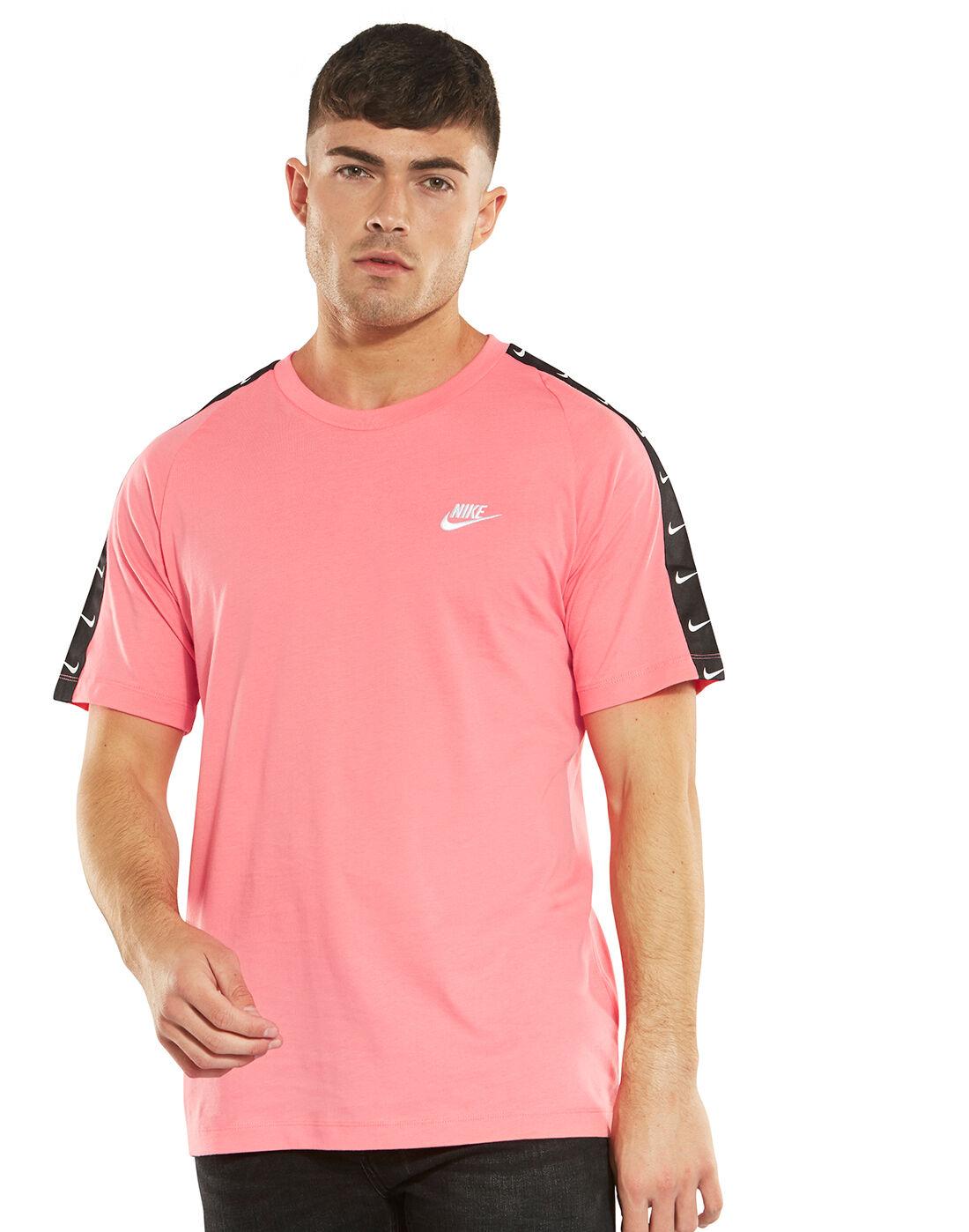 pink and black nike t shirt
