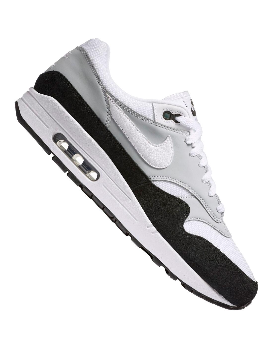 Men's Nike Air Max 1   White & Black   Life Style Sports