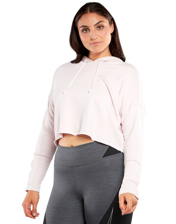 Womens Yoga Luxe Cropped Hoodie
