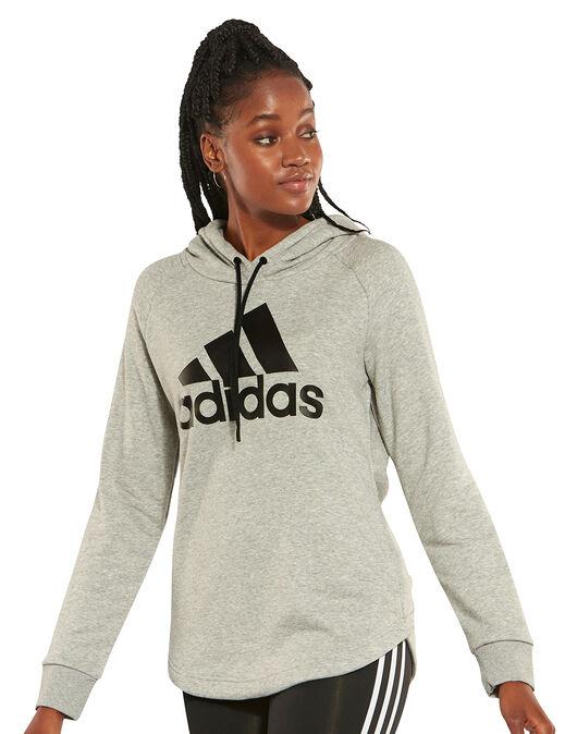 2553f81254b9 Women's Grey adidas Logo Hoodie | Life Style Sports