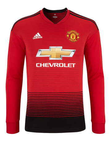 2772c26db9f6 Adult Man Utd 18 19 Home LS Jersey ...