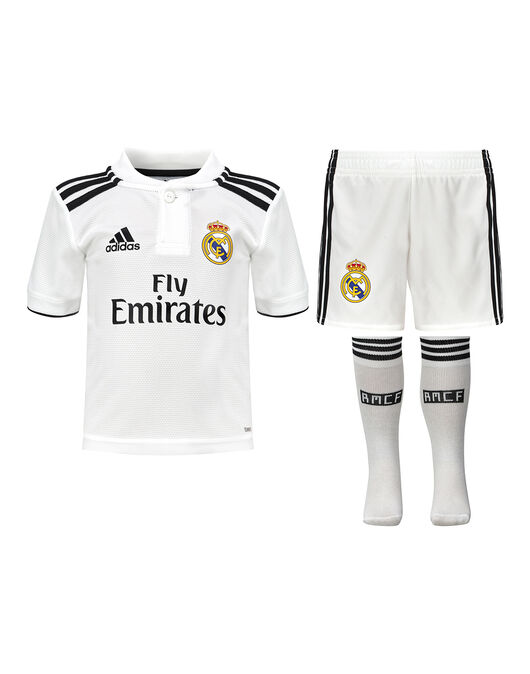 785ccf970 Kids Real Madrid 18 19 Home Kit