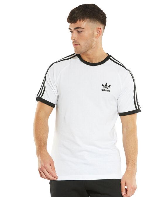 7149cc21a64 Men s adidas Originals White Stripes T-Shirt
