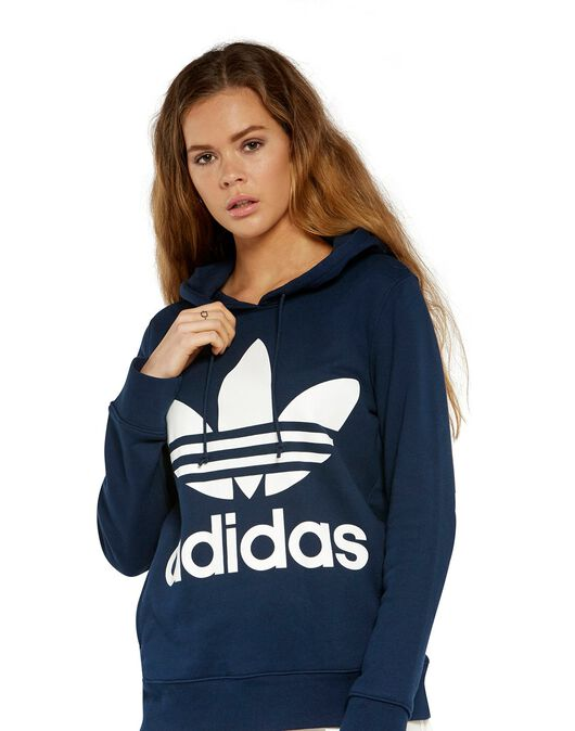 fast delivery usa cheap sale pretty nice Women's adidas Originals Trefoil Hoody | Navy | Life Style ...