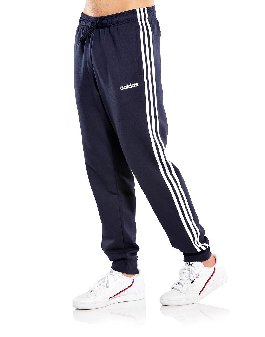 Men's Navy adidas 3 Stripe Track Pants   Life Style Sports