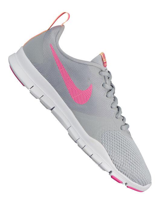 db8f0dff7691 Women s Grey   Pink Nike Flex Essential Trainer