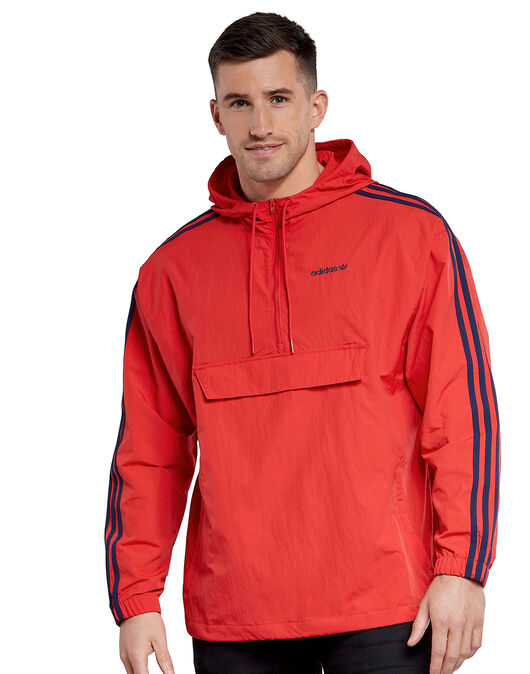 Mens 3-Stripes Half Zip Anorak Jacket