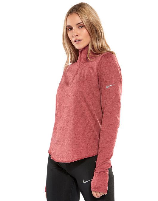 Desagradable Convencional Permuta  Nike Womens Sphere Element Half Zip Top - Red | Life Style Sports IE