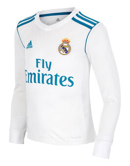 Kids Real Madrid 17/18 Home LS Jersey