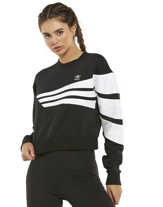 af87b977 Women's Black & White adidas Originals Sweatshirt   Life Style Sports