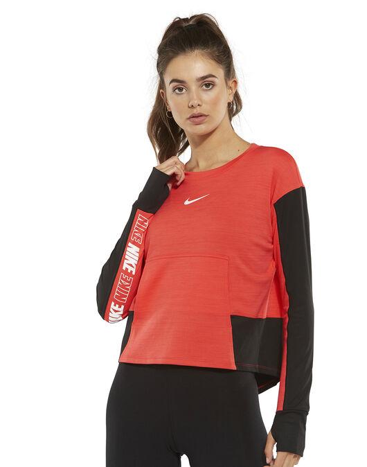Women s Black   Red Nike Pacer Running Sweatshirt  3576363a3