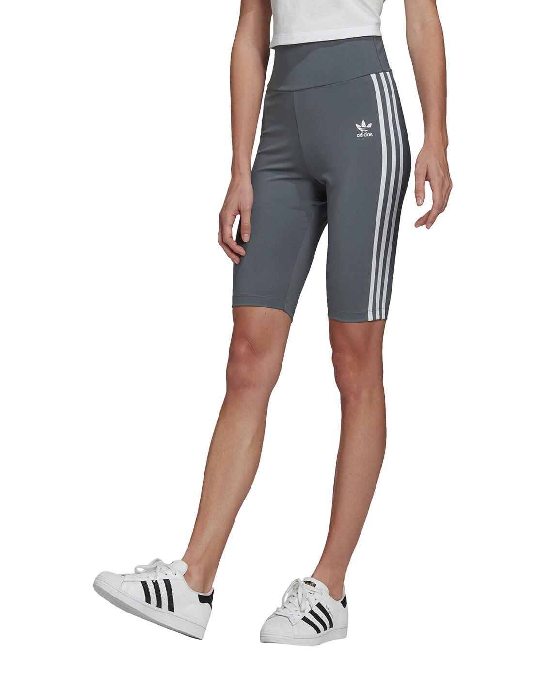 adidas Originals adidas hamburg womens grey sneakers black pants   Womens High Waisted Shorts