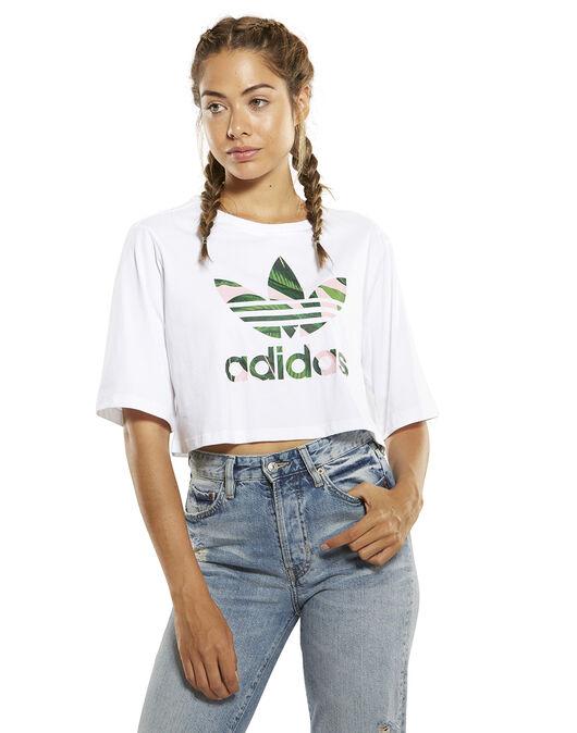 9eef521a Women's adidas Originals Crop T-Shirt | White | Life Style Sports