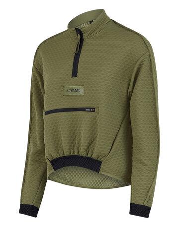 Womens Terrex Hike Half Zip Fleece Sweatshirt