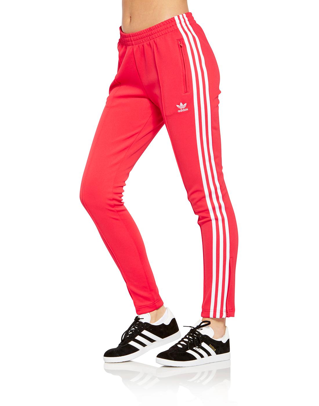 Women s Red adidas Originals Superstar Track pants  90c2d1d83c