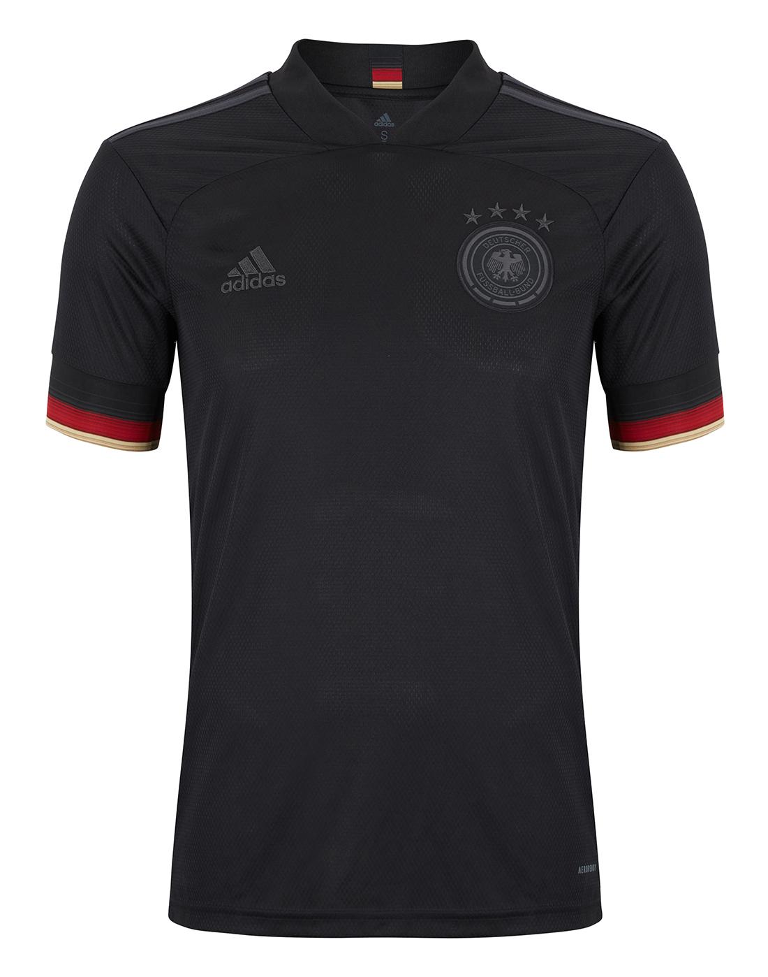 adidas Adult Germany Euro 2020 Away Jersey - Black   Life Style ...