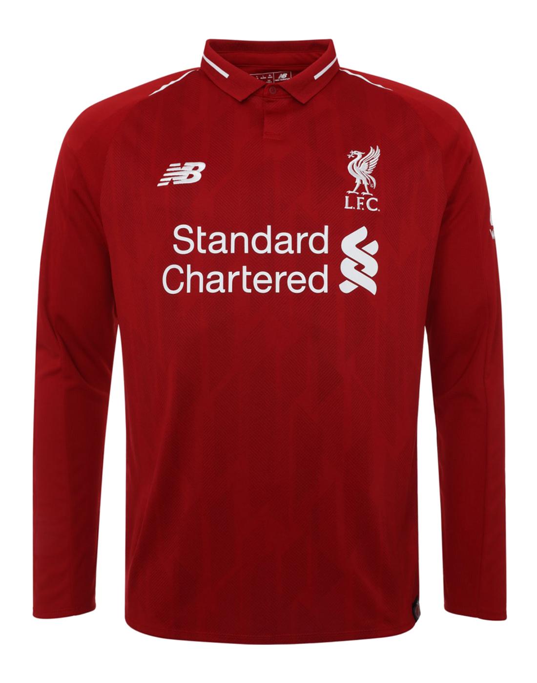 3cc7d47da73 Mens Liverpool 18 19 Home Jersey LS ...