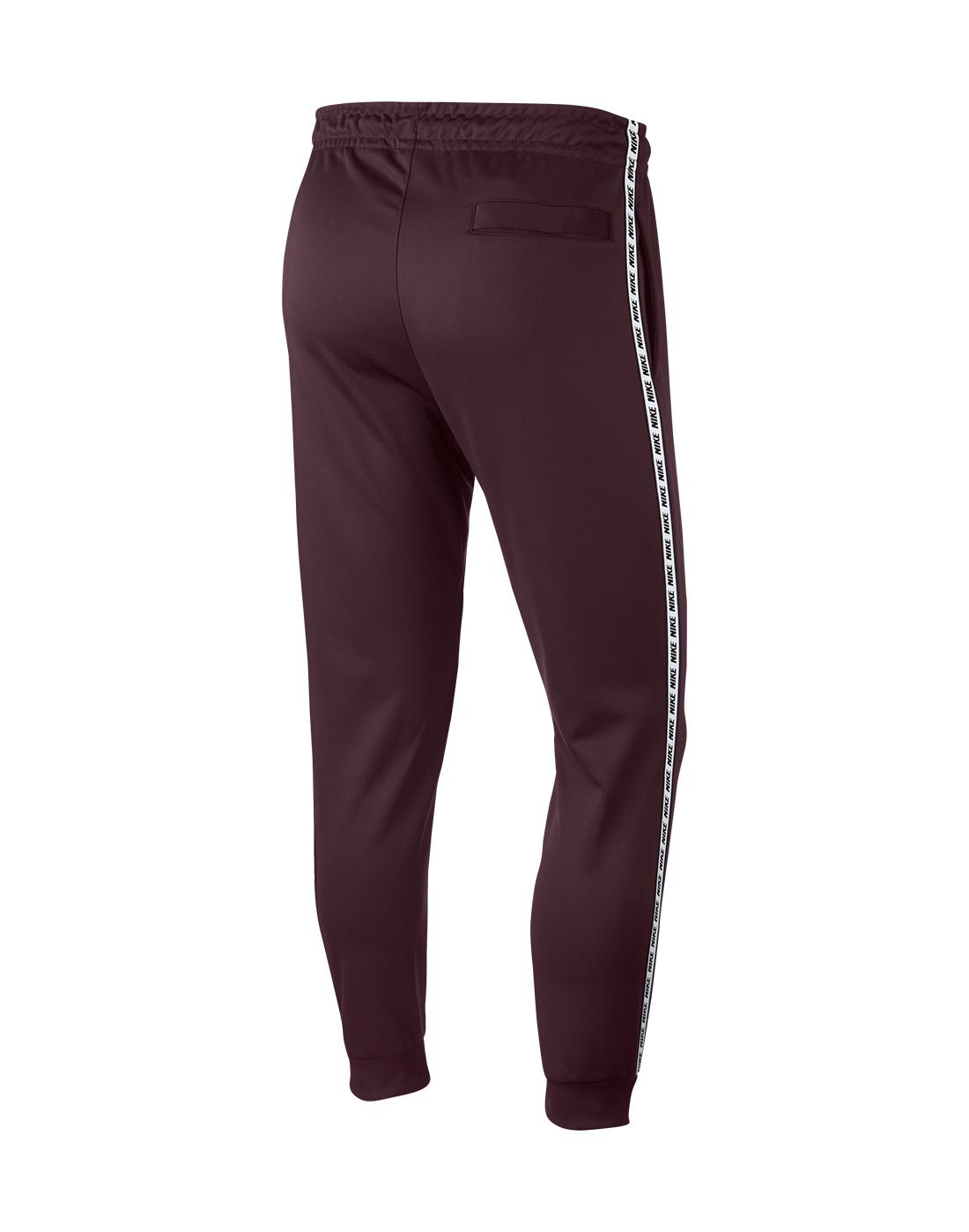265d740c5 Men's Burgundy Nike Taped Track Pants   Life Style Sports