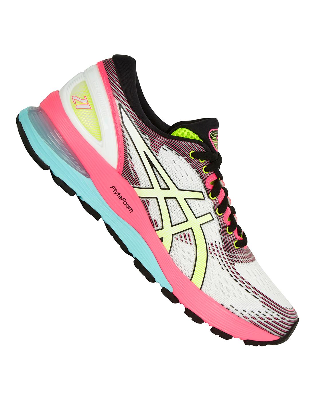 521f7d36e2 Women's Pink ASICS Gel Nimbus 21   Life Style Sports