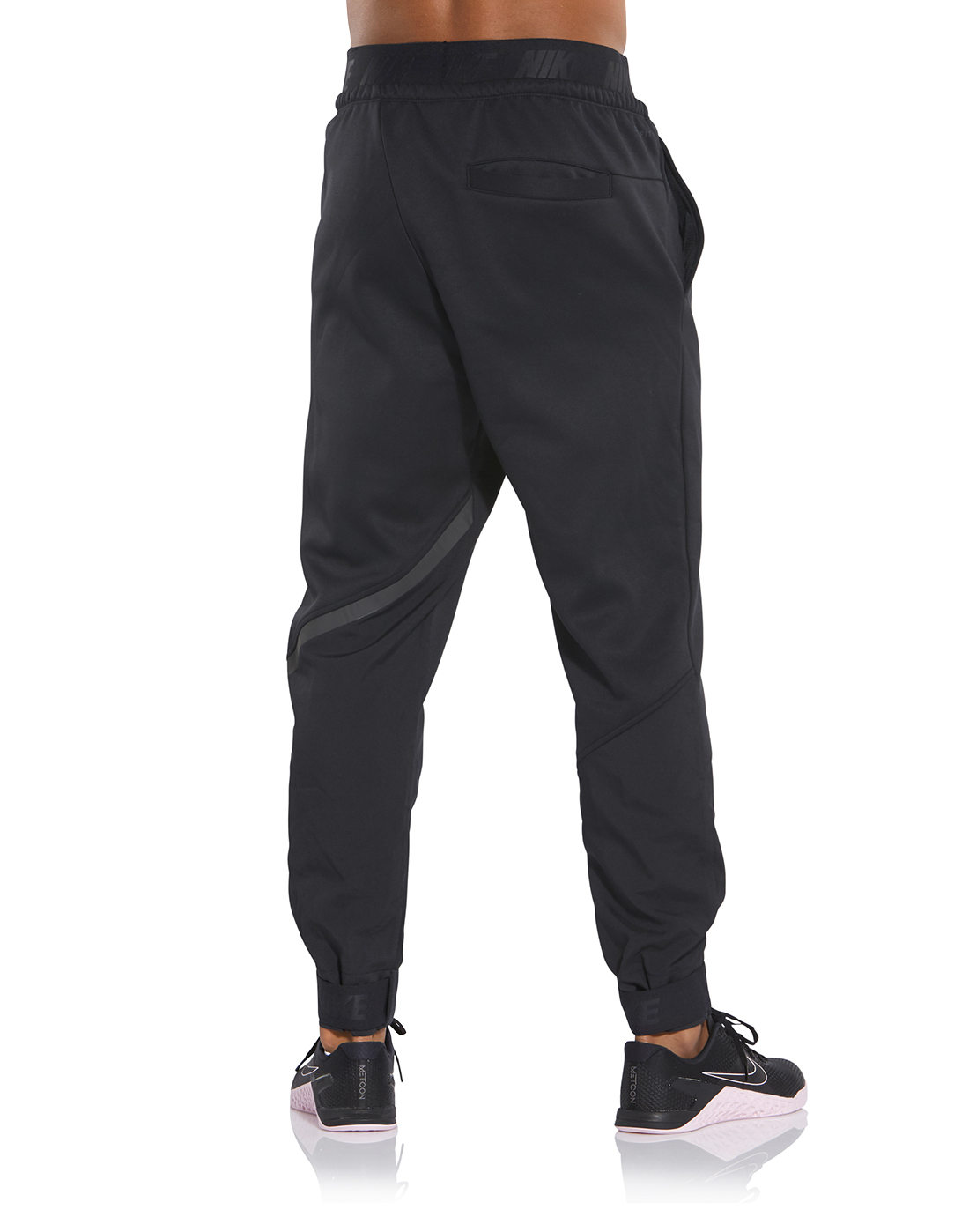 47dcf0436fdd3 Men's Black Nike Therma Gym Track Bottoms | Life Style Sports