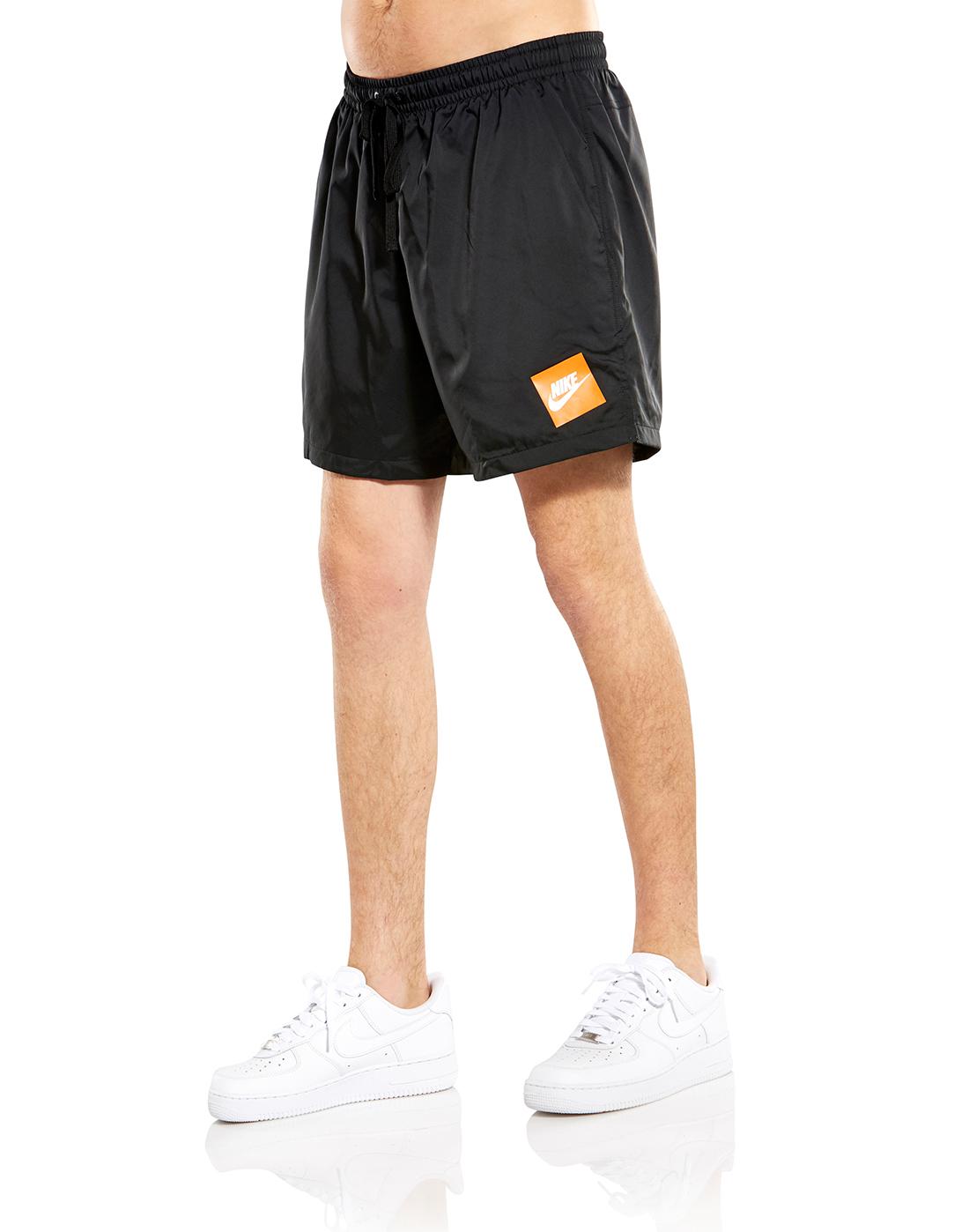 332935c8e0d Men's Black & Orange Nike Shorts | Life Style Sports