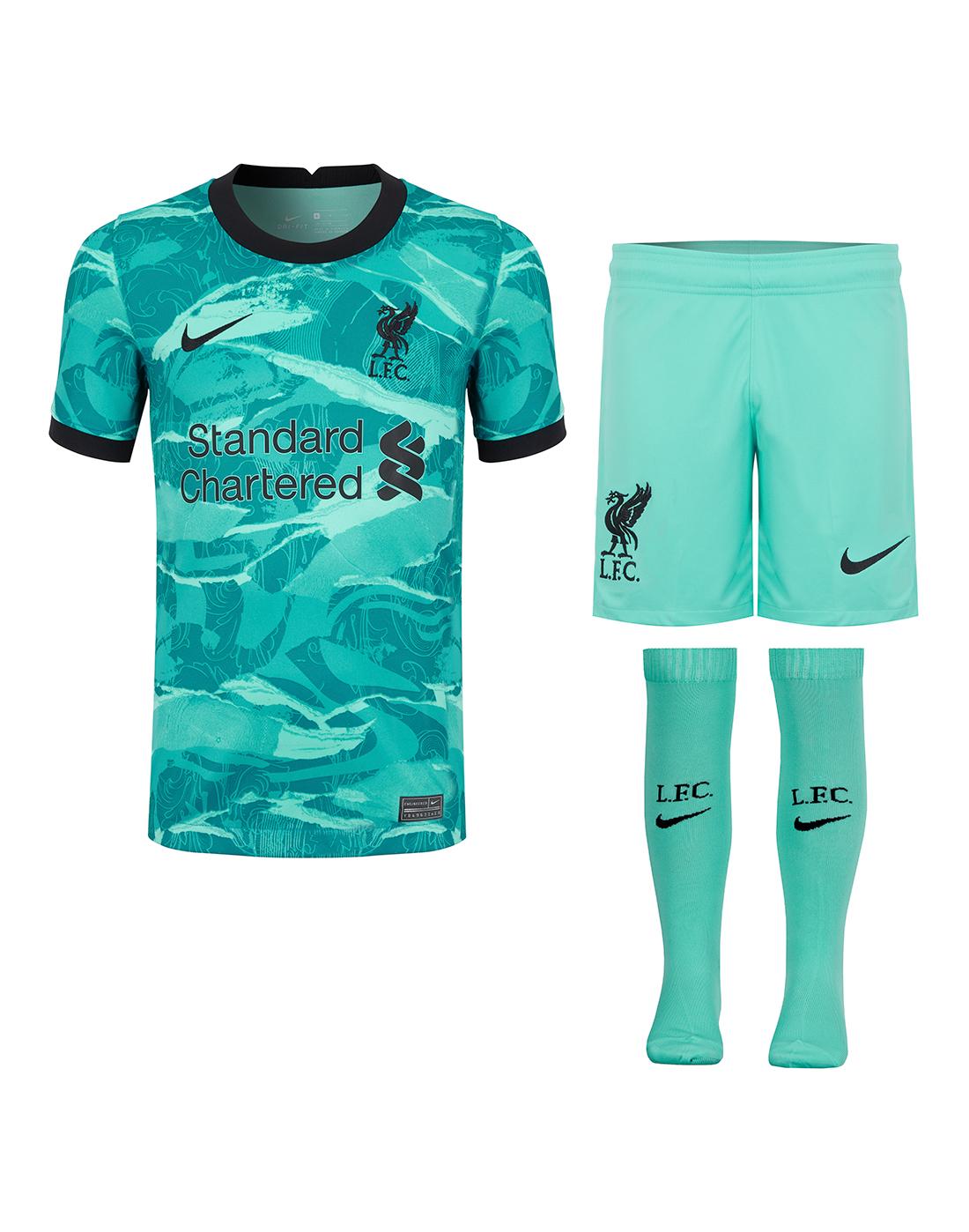 Nike Kids Liverpool 20 21 Away Kit Green Life Style Sports Ie