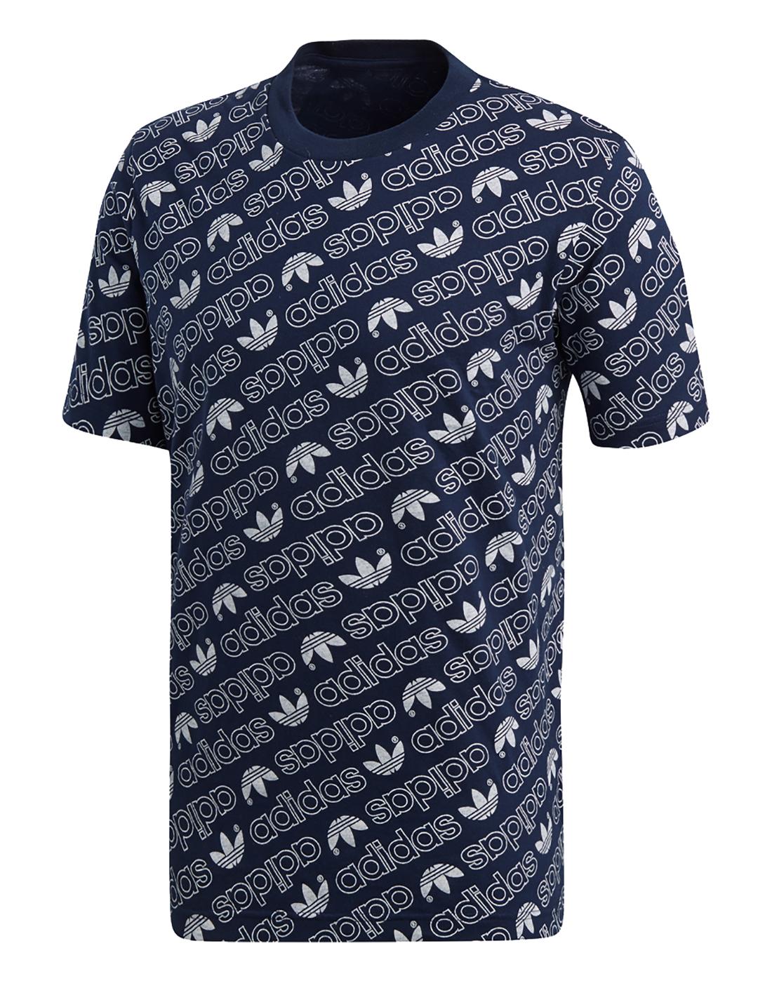 233b99129 Men's Navy adidas Originals Monogram T-Shirt | Life Style Sports