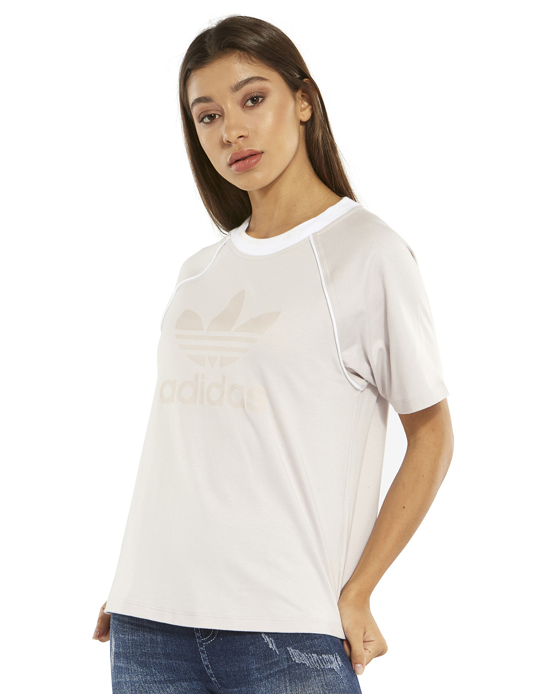 0177aa14f0e Women's Baby Pink adidas Originals T-Shirt | Life Style Sports