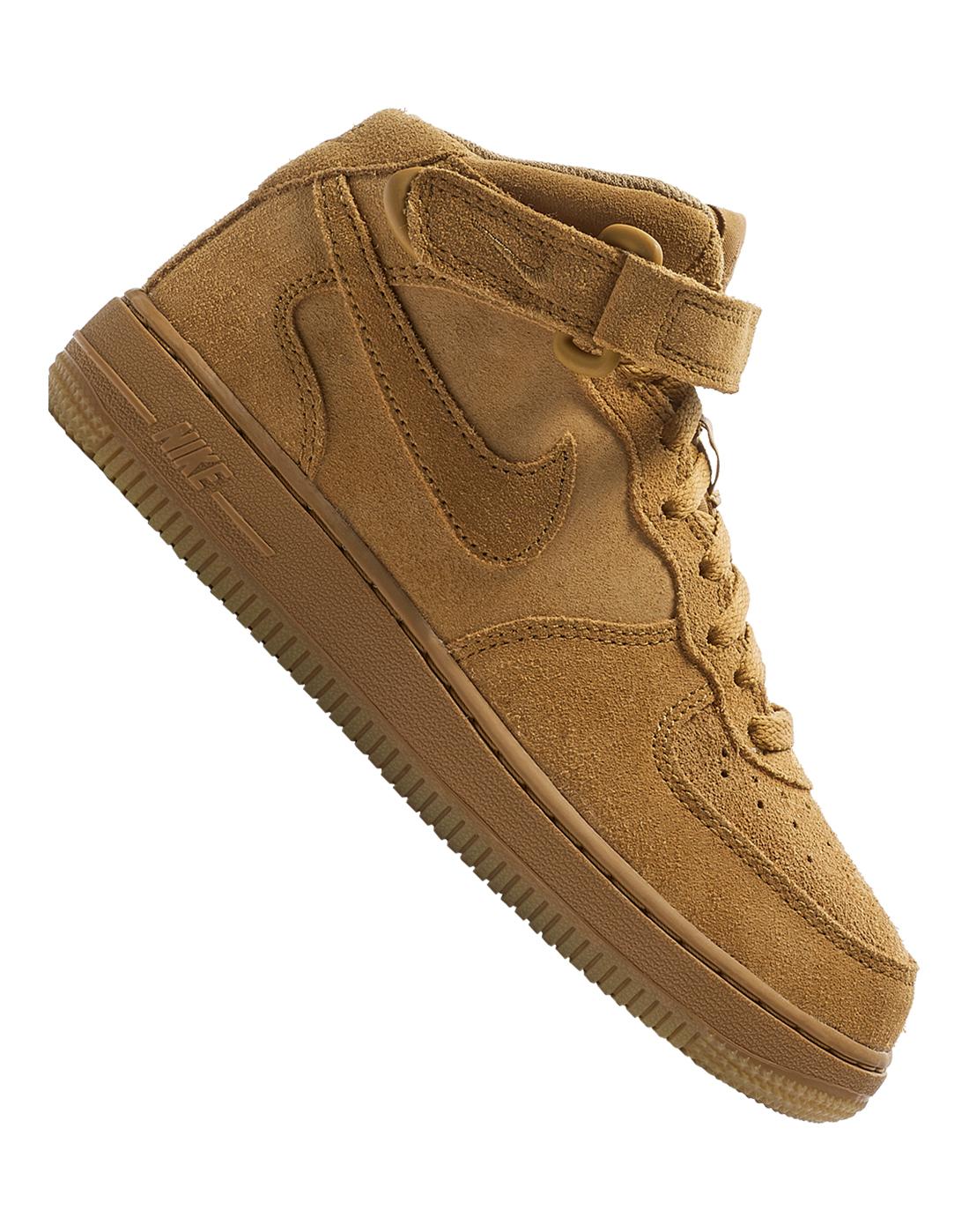Kids Brown Nike Air Force 1 Mid   Life