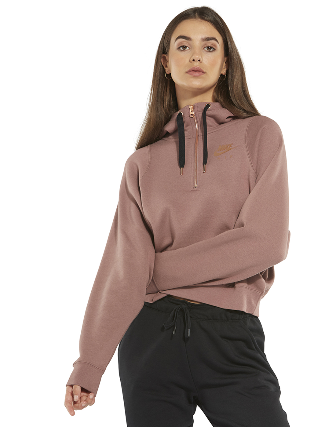 fb6abf76a57e Women s Metallic Nike Air Half Zip Hoodie