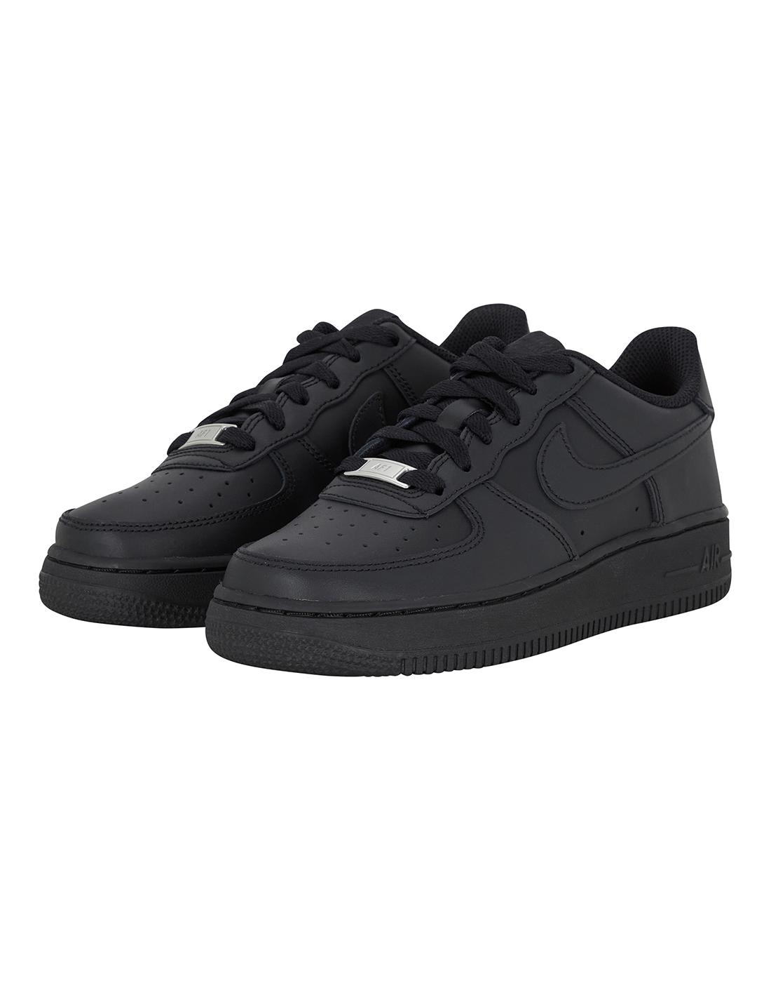 kids black nike air force 1 life style sports. Black Bedroom Furniture Sets. Home Design Ideas