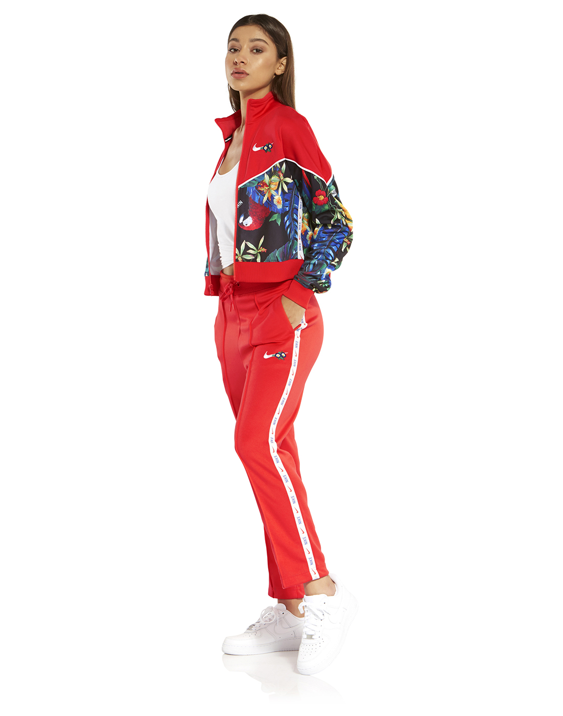 the best attitude 34404 a0468 Women's Red Nike Hyper Femme Floral Pants | Life Style Sports