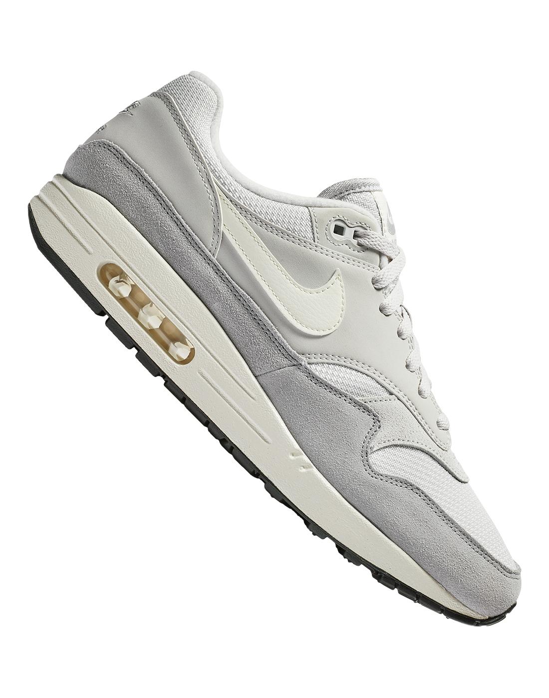 b8fc63e0dfcd Men s Grey Nike Air Max 1