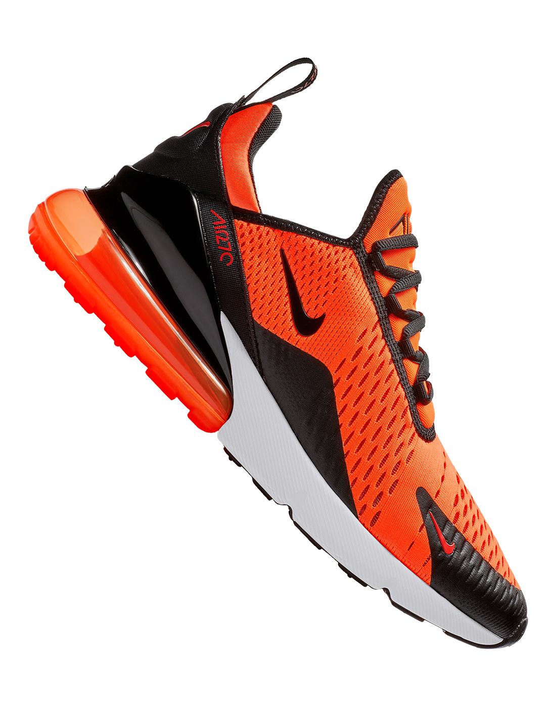 Men s Orange Nike Air Max 270  cb668196a