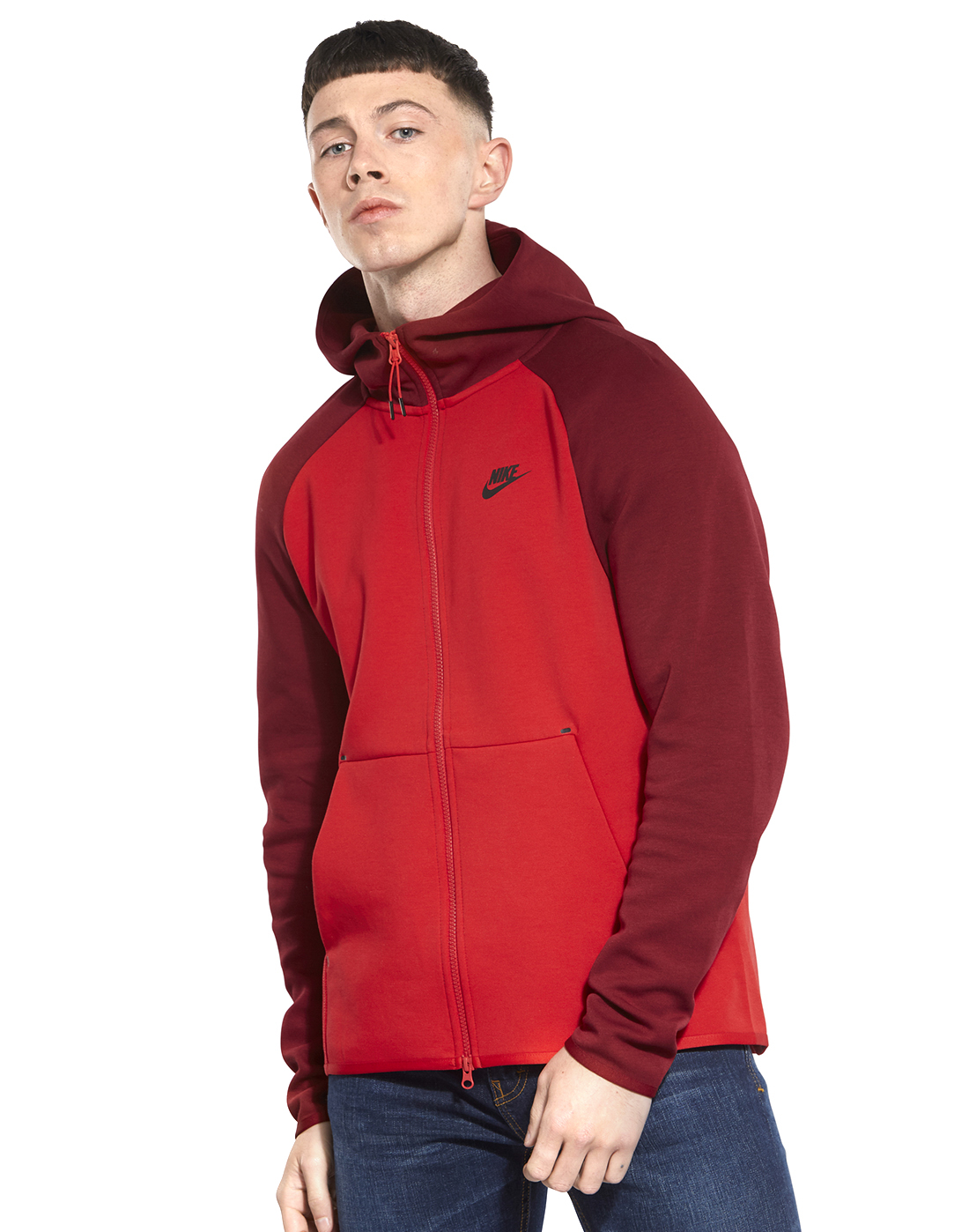 4e681bb5ad62 Men s Red Nike Tech Fleece Hoodie
