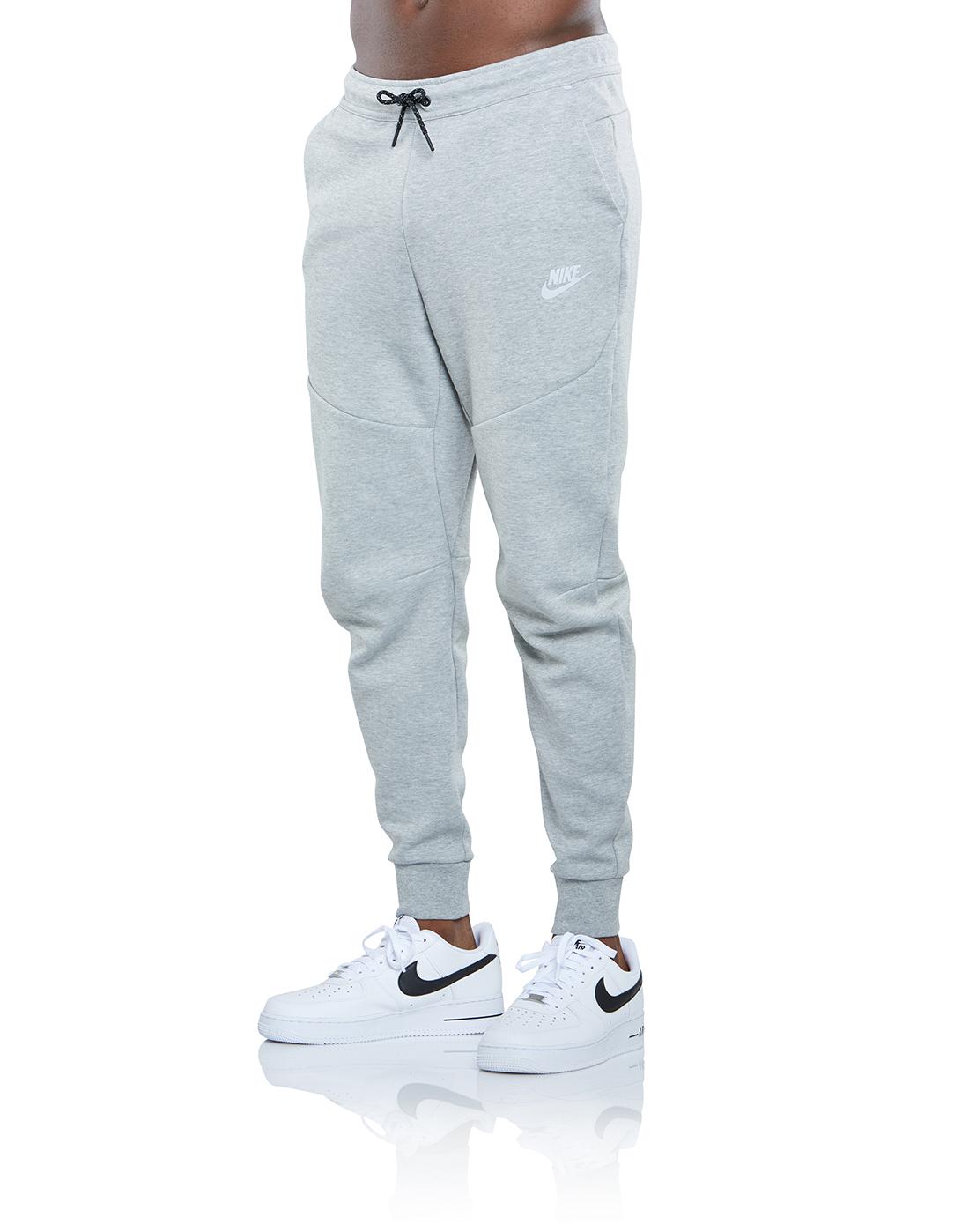 Nike Mens Tech Fleece Reflective Pants Grey Life Style Sports Ie