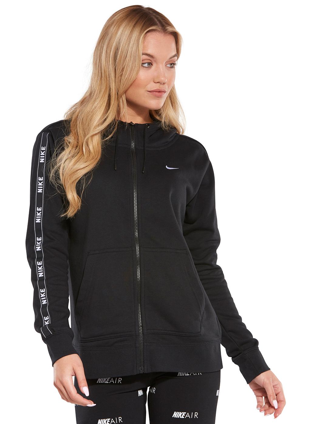 91400bfe3bf5 Women's Black Nike Tape Hoodie   Life Style Sports